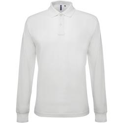 Textiel Heren Polo's lange mouwen Asquith & Fox Classic Wit
