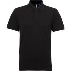 Textiel Heren Polo's korte mouwen Asquith & Fox Performance Zwart