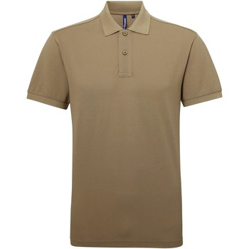Textiel Heren Polo's korte mouwen Asquith & Fox Performance Khaki