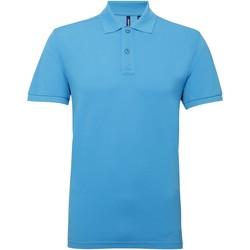 Textiel Heren Polo's korte mouwen Asquith & Fox Performance Turquoise