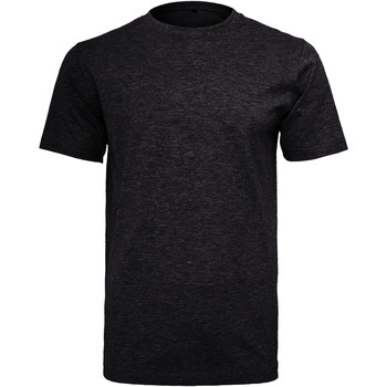 Textiel Heren T-shirts korte mouwen Build Your Brand Round Neck Zwart