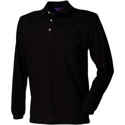 Textiel Heren Polo's lange mouwen Henbury HB105 Zwart