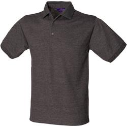 Textiel Heren Polo's korte mouwen Henbury Pique Houtskool