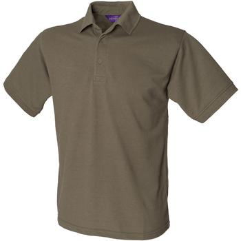 Textiel Heren Polo's korte mouwen Henbury Pique Olijf