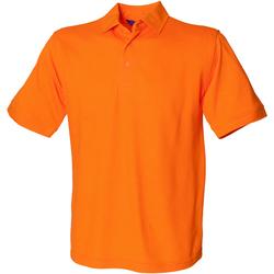 Textiel Heren Polo's korte mouwen Henbury Pique Oranje