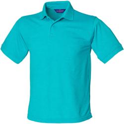 Textiel Heren Polo's korte mouwen Henbury Pique Turquoise
