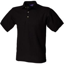 Textiel Heren Polo's korte mouwen Henbury Ultimate Zwart