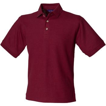 Textiel Heren Polo's korte mouwen Henbury HB410 Bourgondië