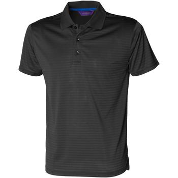 Textiel Heren Polo's korte mouwen Henbury CoolTouch Zwart