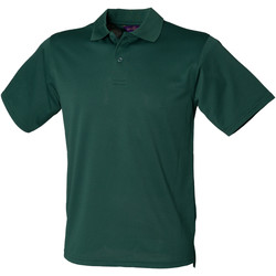 Textiel Heren Polo's korte mouwen Henbury Pique Fles