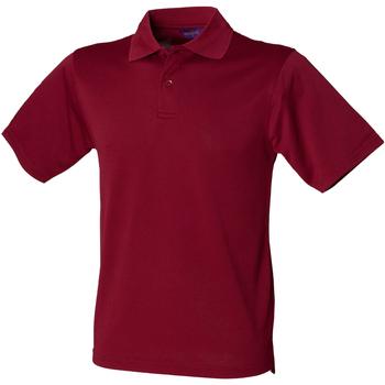 Textiel Heren Polo's korte mouwen Henbury Pique Bourgondië