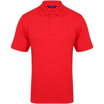 Textiel Heren Polo's korte mouwen Henbury Pique Rood
