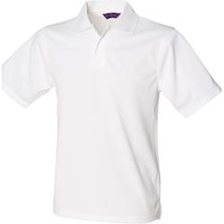Textiel Heren Polo's korte mouwen Henbury HB475 Wit