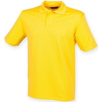 Textiel Heren Polo's korte mouwen Henbury Pique Geel