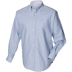Textiel Heren Overhemden lange mouwen Henbury Oxford Blauw