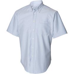 Textiel Heren Overhemden korte mouwen Henbury Classics Blauw