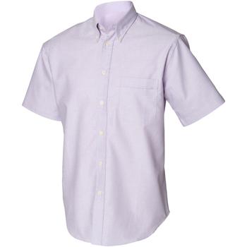 Textiel Heren Overhemden korte mouwen Henbury Classics Lila