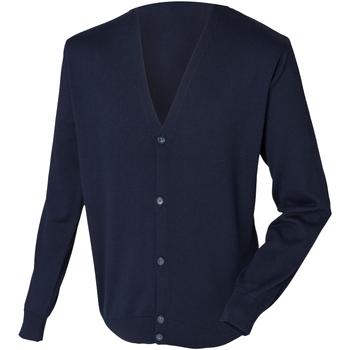 Textiel Heren Vesten / Cardigans Henbury HB722 Marine