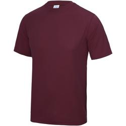 Textiel Heren T-shirts korte mouwen Awdis Performance Bourgondië