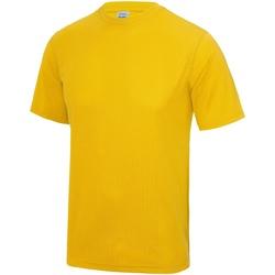 Textiel Heren T-shirts korte mouwen Awdis Performance Goud