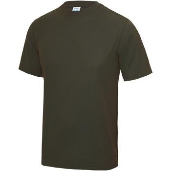 Textiel Heren T-shirts korte mouwen Just Cool Performance Olijf