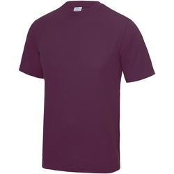 Textiel Heren T-shirts korte mouwen Just Cool Performance Pruim