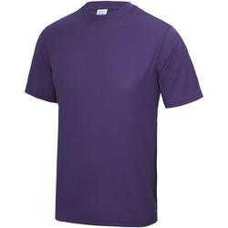 Textiel Heren T-shirts korte mouwen Just Cool Performance Paars