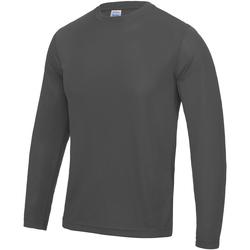 Textiel Heren T-shirts met lange mouwen Just Cool Performance Houtskool