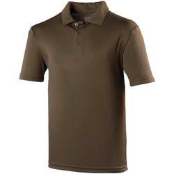Textiel Heren Polo's korte mouwen Awdis JC040 Olijf