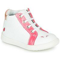 Schoenen Meisjes Hoge sneakers GBB FAMIA Vte / Wit-koraal / Dpf / Messi