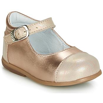 Schoenen Meisjes Ballerina's GBB BELISTO Roze / Gold