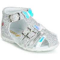 Schoenen Meisjes Sandalen / Open schoenen GBB RIVIERA Zilver