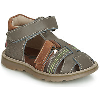 Schoenen Jongens Sandalen / Open schoenen GBB SEVILLOU Grijs / Brown