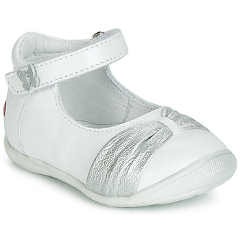 Schoenen Meisjes Ballerina's GBB MALLA Wit / Zilver