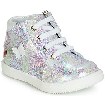 Schoenen Meisjes Hoge sneakers GBB MEFITA Wit / Roze