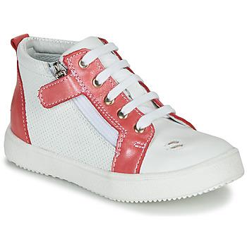 Schoenen Meisjes Hoge sneakers GBB MIMOSA Vte / Wit-koraal / Dpf / Dinner