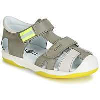 Schoenen Jongens Sandalen / Open schoenen GBB BERTO Grijs / Geel