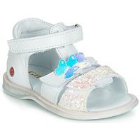 Schoenen Meisjes Sandalen / Open schoenen GBB MESTI Wit / Zilver