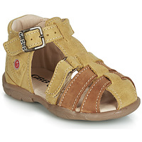 Schoenen Jongens Sandalen / Open schoenen GBB PRIGENT Mosterd