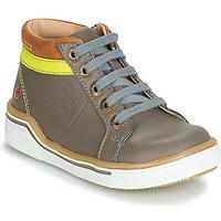 Schoenen Jongens Hoge sneakers GBB QUITO Grijs / Geel