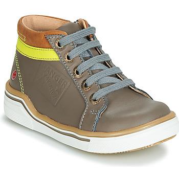Schoenen Jongens Hoge sneakers GBB QUITO Vte / Grijs-jaune / Dpf / Blake