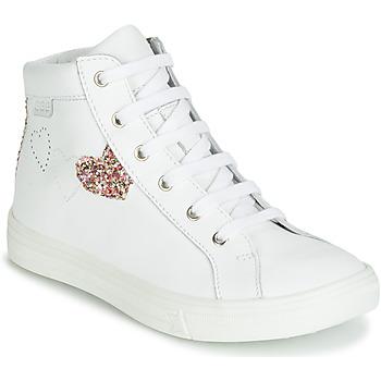 Schoenen Meisjes Hoge sneakers GBB MARTA Wit / Multikleuren