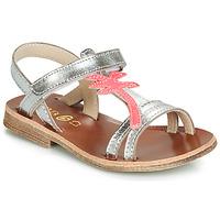 Schoenen Meisjes Sandalen / Open schoenen GBB SAPELA Vte / Zilver-fluo / Dpf / Coca