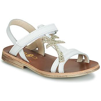 Schoenen Meisjes Sandalen / Open schoenen GBB SAPELA Vte / Blanc-or / Dpf / Coca