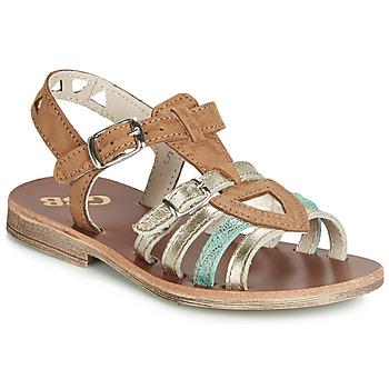 Schoenen Meisjes Sandalen / Open schoenen GBB FANNI Cognac / Goud