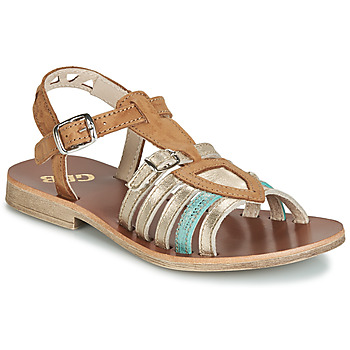 Schoenen Meisjes Sandalen / Open schoenen GBB FANNI Brown / Goud