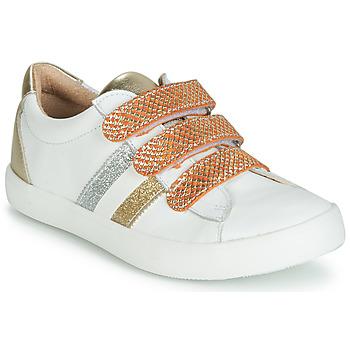 Schoenen Meisjes Lage sneakers GBB MADO Wit / Goud