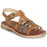 Schoenen Meisjes Sandalen / Open schoenen GBB BANGKOK Vts / Marron-paillette / Dpf / Coca