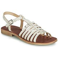 Schoenen Meisjes Sandalen / Open schoenen GBB BANGKOK Beige / Wit