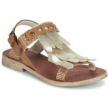 Schoenen Meisjes Sandalen / Open schoenen GBB ACARO Brown / Goud